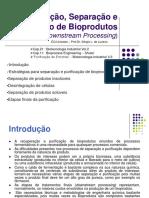 Separação e Recuperação de Bioprodutos
