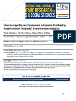 How Susceptible Are Consumers in Impulse Purchasing Ready-To-Drink Products Evidence From Malaysia