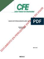 CFE-E1000-16-2016 Cables de Potencia Monopolares de 5kV a 35kV - Vigente a partir 160706.pdf