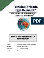 Proceso de Reforma de La Constitucion
