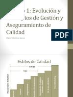 Evolución y Conceptos de Gestion y Aseguramiento de Calidad