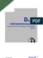 Detecon Opinion Paper Die neue Individualisierung der IT. Vorteile und Grenzen von Mashups in Unternehmen