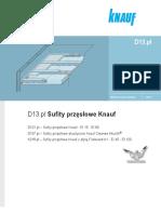 Zeszyt Techniczny D13.Pl Knauf Sufity Przęsłowe - Bezwieszakowe