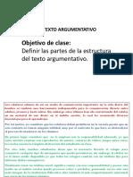 PPT Clase Texto Argumentativo Estructura Interna.7ºbásico.