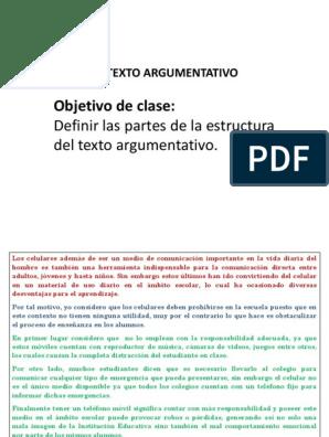 Ppt Clase Texto Argumentativo Estructura Interna 7ºbásico