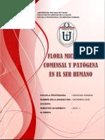 Flora microbiana comensal y patogena 2018