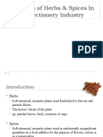 The Uses of Herbs & Spices in Confectionery 1
