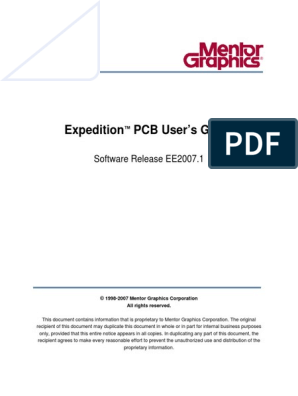 Expedition PCB User's Guide pdf | Proprietary Software | Trademark