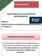 2Característica de Los Negocios Gastronómicos