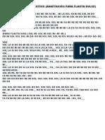 Notas Para Flauta de Mariposa Traicionera de Maná