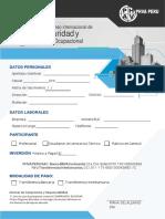Ficha de Inscripcion- VCISSO 2018-PERÚ