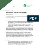 Flood Defence Letter