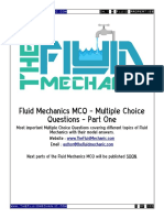 Fluid Mechanics MCQ - Part One