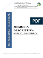 Memoria Descriptiva Meta Nº 178 Apumarca