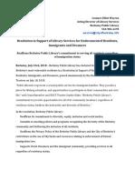 Berkeley Public Library Press Release