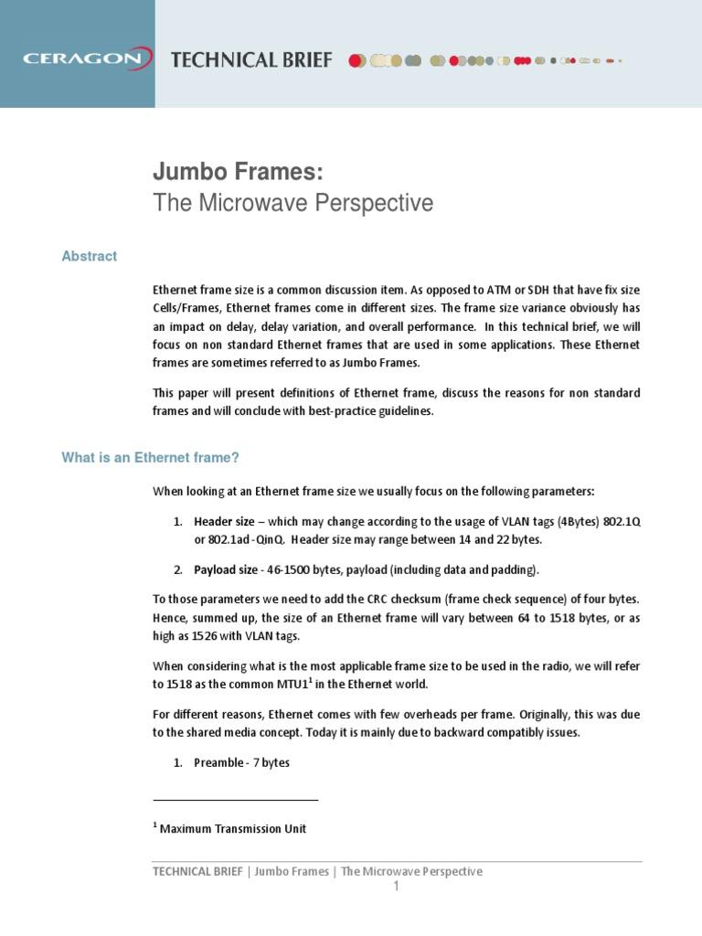 Technical brief jumbo frame.pdf | Computer Network | Transmission ...