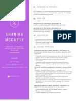 shanikamccarty resume