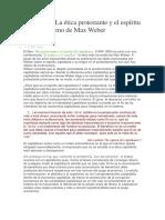 Análisis de La ética protestante y el espíritu del capitalismo de Max Weber.docx