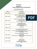 """Programa Seminario """"Normas chilenas proyecto de pesca sustentable"""""""