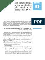INSHT Evaluacion Simplificada INRS