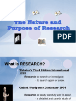 Chapter 1 Nature and Purpose of Research
