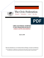 The Civic Federations's analysis and recommendation for the proposed 2019 CPS budget