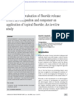 Comparative Evaluation of Fluoride Release