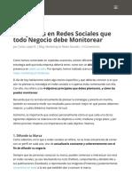 4 Objetivos a Monitorear en La Estrategia de Redes Sociales de Tu Negocio