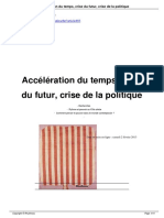 Acceleration Du Temps Crise