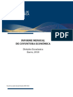 Informe Mensual de Coyuntura Economica Enero 2018