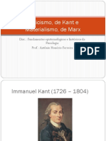 Criticismo de Kant e o Materialismo de Marx