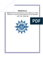 Proposal Kegiatan Idul Fitri 2016