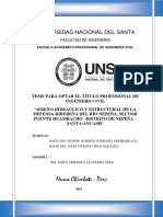 """""""Diseño Hidraúlico y Estructural de La Defensa Ribereña Del Rio Peña2016"""