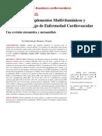 Asociación de Suplementos Multivitamínicos y Minerales y Riesgo de Enfermedad Cardiovascular