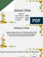PHANEROGAMAE - Liliopsida - Subclassis Lilidae.pptx