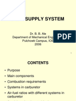 Carburetor Fuel Supply System