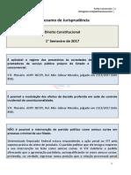 Resumo de jurisprudência - Direito Constitucional - Primeiro Semestre 2017