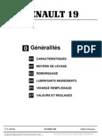 MR293R190 Renault 19 GENERALITES (1à7)