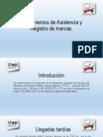 Lineamientos de Asistencia y Registro de Marcas