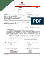 Evaluación Lenguaje Unidad 1 Leyenda y Fabula