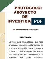 SESION N° 04 - EL PROTOCOLO - PROYECTO DE INVESTIGACION