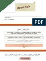 LEXICOLOGÍA