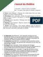 Champ Lexical Du Théâtre