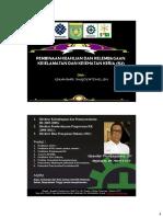 Pembinaan Keahlian & Kelembagaan K3 Kombinasi Ahli K3 Umum