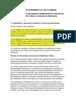 Decreto Supremo Nº 011- Habilitacion Urbana Modealidad A