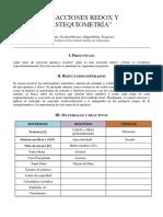 Informe 3, Lab Química Redox y Estequiometria