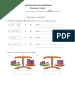 Guía de  ecuaciones 3ro básico Refuerzo Pedagógico.docx