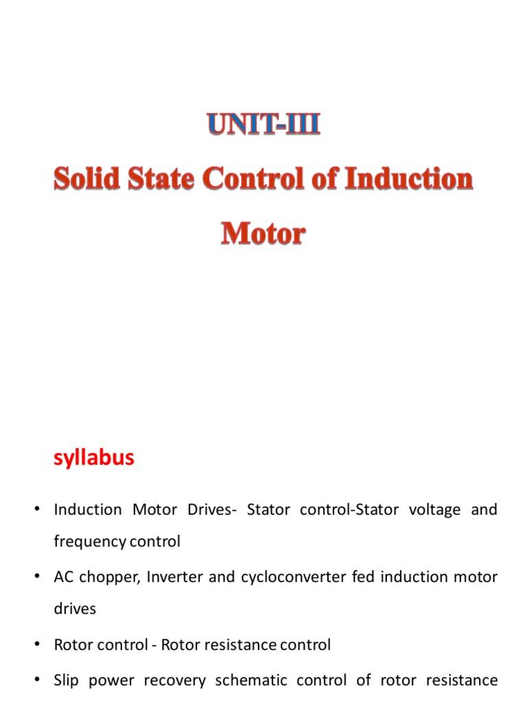 Speed Control | Power Inverter | Rectifier