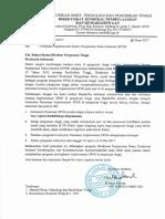 Surat Pemberitahuan Implementasi Pemetaan SPMI