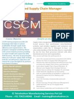 CSCM – Certified Supply Chain Manager 5 Day Workshop by Tetrahedron